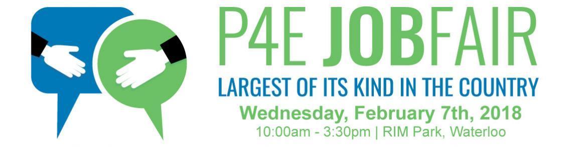 P4E Job Fair - Feb. 7th, 2018, RIM Park Waterloo