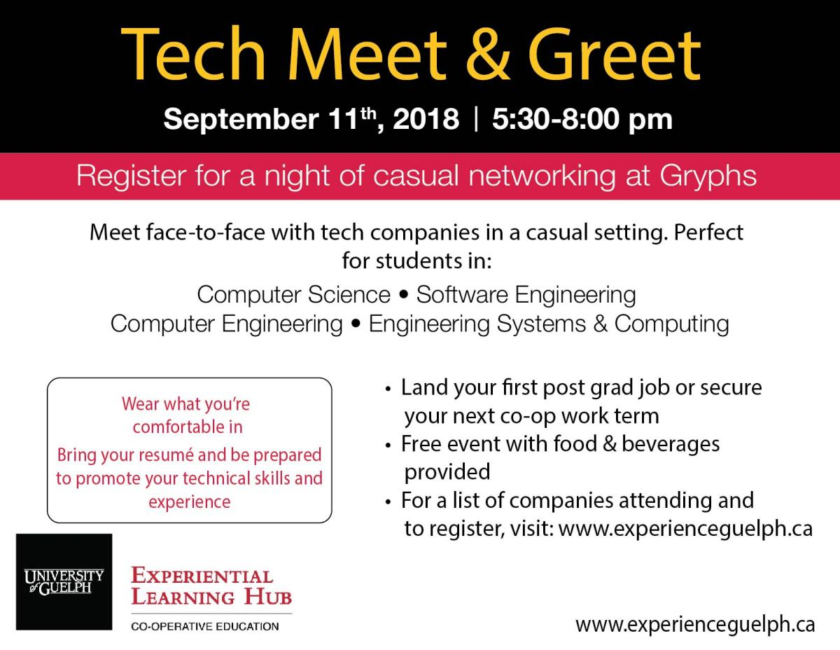 Tech Meet And Greet Co Operative Education Career Services