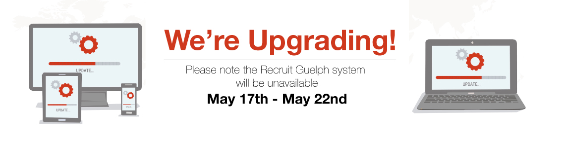 We're Upgrading. Recruit Guelph unavialble May 17-22
