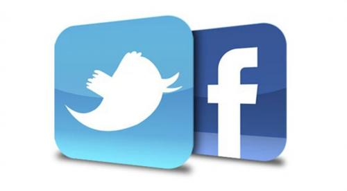 Icons for Twitter and Facebook